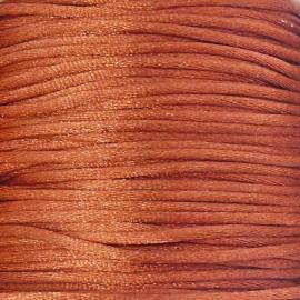 satijnkoord 2mm 5 meter kleur roest
