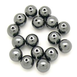 natuursteen kralen - Hematite - rond 7mm (10 stuks)