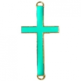 GOUD Tussenzetsel kruis 23x46mm kleur medium bright green (BK15991)