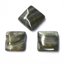 schelp vierkant 15x15mm kleur parelmoer grijs (BJSC025)