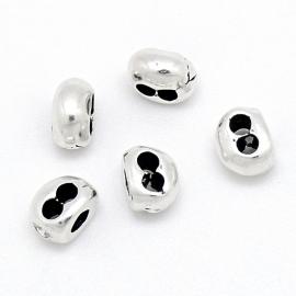 DQ metaal verdeler 2 gaten maat 5x8mm (gaten 2,5mm) (B05-036-AS)
