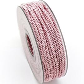 gedraaid koord 3mm dik - kleur licht roze - (KL304603) - lengte 2 meter