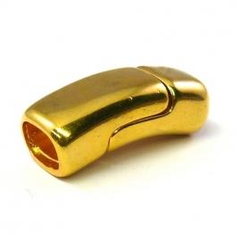 DQ metaal GOUD magneetsluiting 13x32mm gat 7x10mm REGALIZ (B07-038-SG)