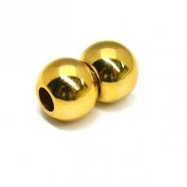 DQ metaal GOLD magneetsluiting balletjes voor 5mm rond leer (B07-018-SG)
