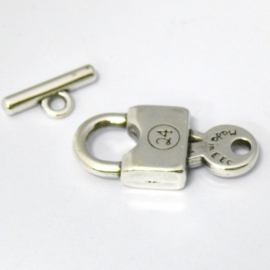 DQ metaal kapittelslot sleutel 16x36mm (B07-021-AS)
