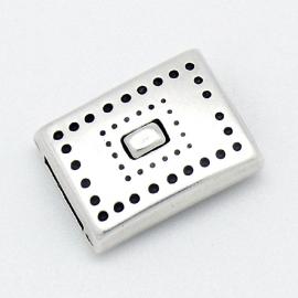 DQ metaal magneetslot dots voor 10mm plat leer gat 2,5x10mm (B07-061-AS)