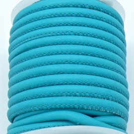 DQ cross stitched leather Best Quality size 4mm - color turquoise - 20cm (BRCSL-04-08)