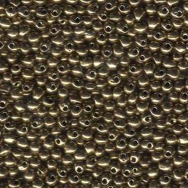 MD-34-0457 MIYUKI dropbead 3.4mm - kleur Metalic Bronze - 10 gram