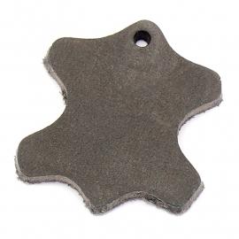 DQ leather gestanste huid 45mm - dik 4,5mm kleur buffel grey (ST-HUID-004)