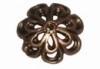 DQ metaal KOPER kralenkap bloem 11mm