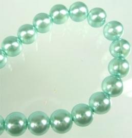 glaskraal lichtblauw pearl 8mm (50 stuks)