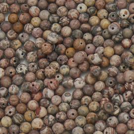 natuursteen kralen - Leopard Jasper - rond 4mm (10 stuks) (BJ4-007)