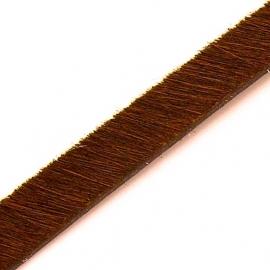 DQ professional platte leerband 10mm breed, circa 2mm dik, 20cm lang vacht cappuccino (PL10-HLP-17)