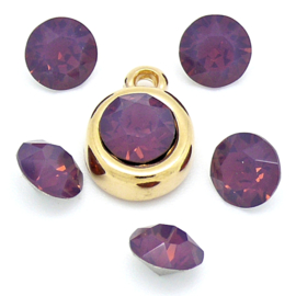 swarovski puntsteen SS39 kleur cyclamen opal