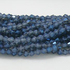 glaskraal bicone 4mm - circa 110  kralen (BGK-008-025) kleur Crystal Montana AB