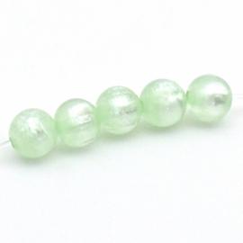 Polaris kraal 8mm - gat 1,5mm kleur chrysolite pearl (POL-005-002)
