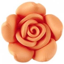 Roosje kraal fimo 23 mm zacht oranje (BK9708)
