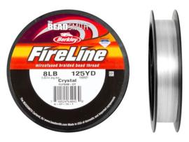 Fireline 8 LB (dikte 0,22mm)  125 yards (114m) kleur Crystal 8LB