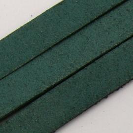 DQ platte leerband 10mm breed 85cm lang kleur Army Green (M66080)