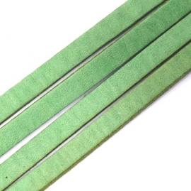 leren band smal 6mm - 85cm lang - kleur tender green (M65806)