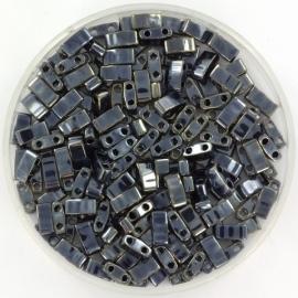 HTL-0464 Miyuki Half Tila 5x2,3mm - 5 gram - kleur metalic light gunmetal