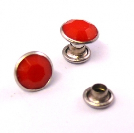 stud crystal 7mm kleur opaque red (no. 423) - 10 stuks
