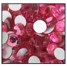 Swarovski platte steen SS16 - kleur Rose