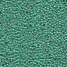 MR11-4214 Miyuki Rocailles 11/0 - 10 gram - kleur Duracoat Galvanized Dark Mint Green
