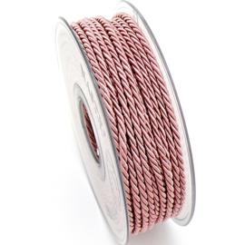 gedraaid koord 3mm dik - kleur oud roze - (KL304620) - lengte 2 meter