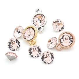 swarovski puntsteen SS29 6mm light peach