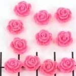 kraal roosje 9mm fel roze (BJ-21609-11b)