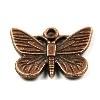 DQ metaal KOPER bedel vlinder 18x28mm (BK865)