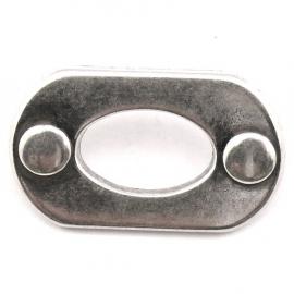 10-0149 concho met pin ovaal open 13x31mm