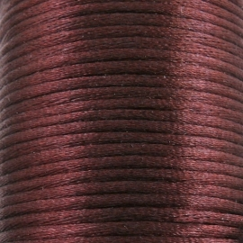 satijnkoord 2mm 5 meter kleur donkerbruin