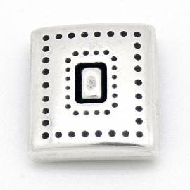 DQ metaal magneetslot vierkant voor 20mm plat leer gat 2,5x20mm (B07-057-AS)
