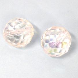 glaskraal crystal AB facet rond 16mm (AB8690)