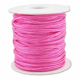 Soutache braid 3mm - color pink - lengte 1m (BRF-255)