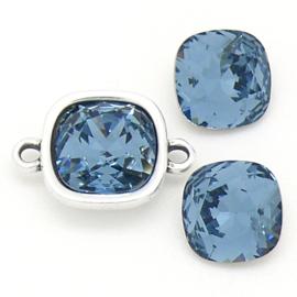 swarovski vierkante steen 4470 - 10mm - denim blue (BSSQ-007)
