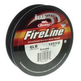 Fireline 6 LB (0,20mm) 125 yards (114m) kleur Smoke 6LB