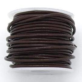 DQ rond leer 1,5mm - kleur Milkchocolate Brown- 1 meter (BRL-01-42)