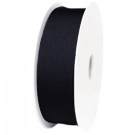elastisch IBIZA lint 30mm breed - lenge 1 meter - kleur zwart (BIL30-01)