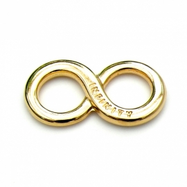 DQ metaal GOLD tussenzetsel INFINITY 17x35mm (B03-005-SG)