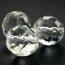 (BJW032) glaskraal crystal facet rond 8mm