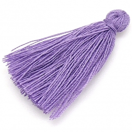 kwastje satijn lengte circa 30mm kleur bohemian purple (KW-30-013)