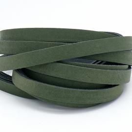 DQ leren band breed 10mm - 2,3 dik circa 100cm lang - kleur trend groen (PL10-013)