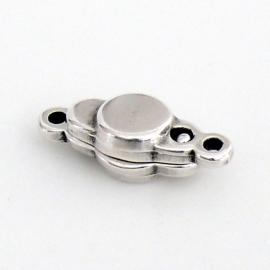 DQ metaal magneetsluiting met 2 oogjes 7x17mm (B07-046-AS)