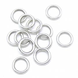 DQ metaal gesloten ringetje 11x1,5m - binnenmaat 7,5mm (B05-031-AS)
