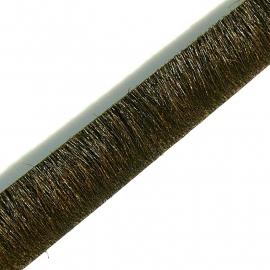DQ professional platte leerband 10mm breed, 20cm lang vacht donker olijfgroen (PL10-HLP-23)