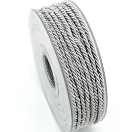 gedraaid koord 3mm dik - kleur grijs - (KL304640) - lengte 2 meter
