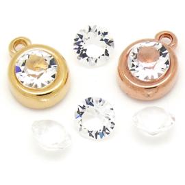 swarovksi puntsteen SS39 crystal (unfoiled) LET OP!! unfoiled betekent geen zilverlaagje aan de achterkant!!
